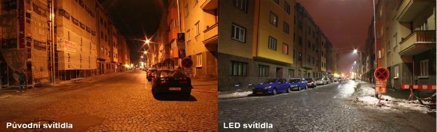 Ukážka využitia LED verejneho osvetlenia v praxi